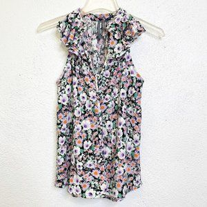 Anthropologie Sleeveless Floral Top Size M